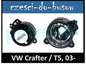 VW Crafter 05- / T5 03-, Halogen HB4 nowy HELLA LEWY