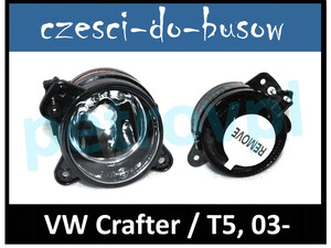 VW Crafter 05- / T5 03-, Halogen HB4 nowy PRAWY