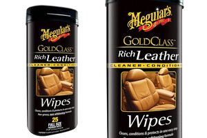 Chusteczki do skóry MEGUIARS - Gold Class Rich Leather Wipes
