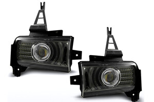 Toyota Land Cruiser 07-, Halogeny BLACK nowe LED