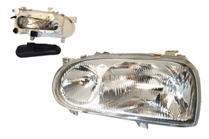 VW Golf III 91-99, Reflektor lampa H1+H1 new LEWA
