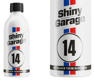 Dressing do plastików zewn. SHINY GARAGE - Jet-Black Exterior Trim Restorer 500ml